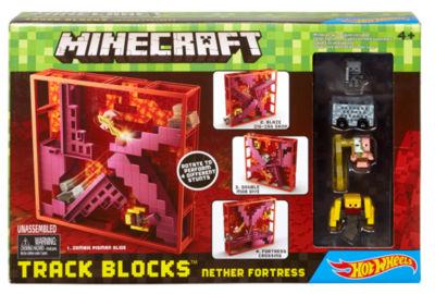 Minecraft Hot Wheels Track BLOCKS NETHER FORTRESSPlay Set