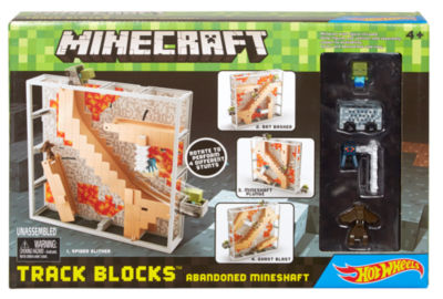 Minecraft  Hot Wheels Track BLOCKS ABANDONED MINESHAFT Play Set