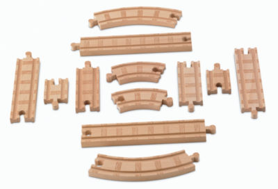 Fisher-Price Thomas the Train Wooden Railway Straight and Curved Expansion Track