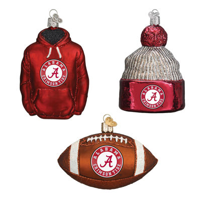 Alabama Football Christmas Ornaments(3)