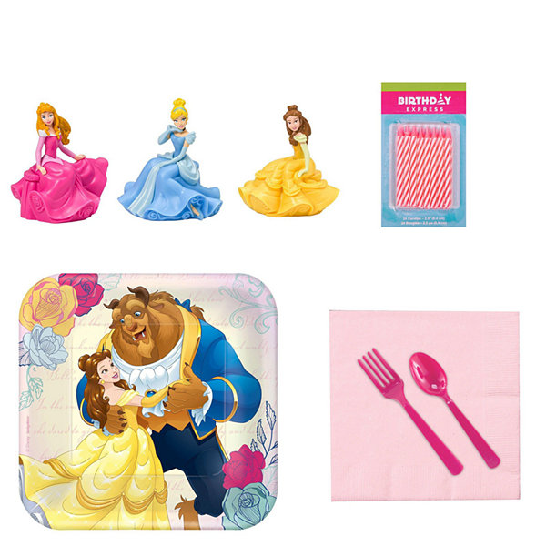 Beauty & the Beast Tableware and Cake Topper Kit