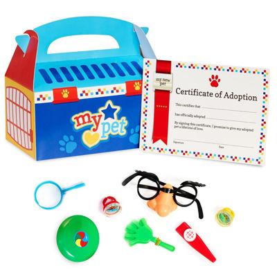 Blue Pet Carrier & Pinata Toys