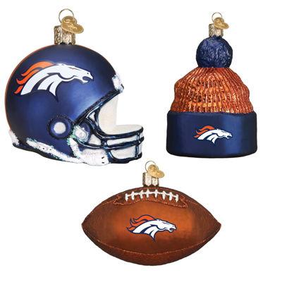Denver Bronco Christmas Ornaments(3)