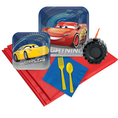 Disney Cars  3 - 16 Guest Party Pack Plus Molded Cups