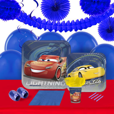 Disney Cars 3 16 Guest Tableware & Decoration Kit