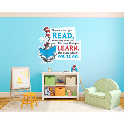 Dr. Seuss Cat in the Hat Inspirational Quote GiantWall Decal
