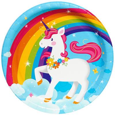 Fairytale Unicorn Party Dinner Plates