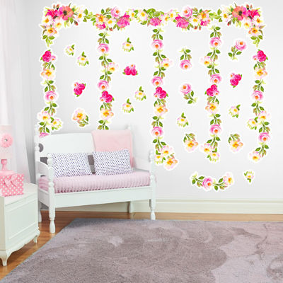 Garden Flowers Giant Wall Decal