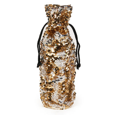 Gold & Silver Reversible Sequin Wine Bag