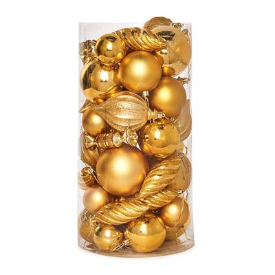 Gold Assorted Ornament Set (48)