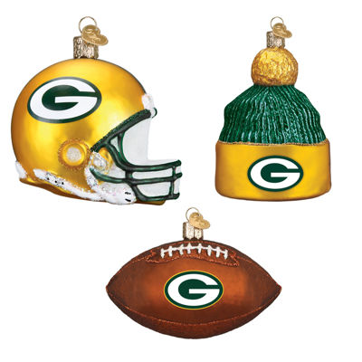 Green Bay Packers Christmas Ornaments(3)