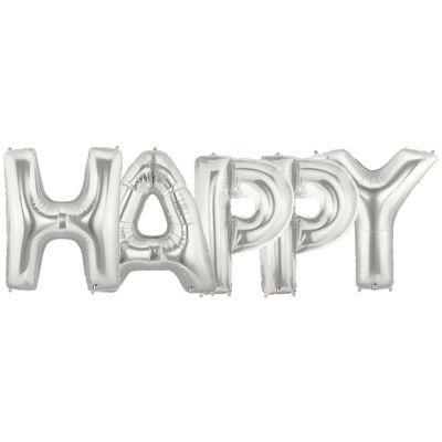 Jumbo Foil Balloons-HAPPY