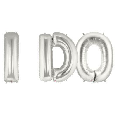 Jumbo Silver Foil Balloons-I DO