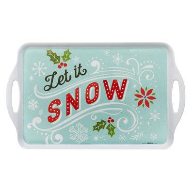 Let it Snow! Rectangle Melamine Tray