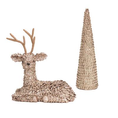 Metallic Deer & Tree