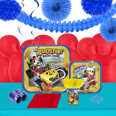 Mickey Roadster 16 Guest Tableware & Decoration Kit