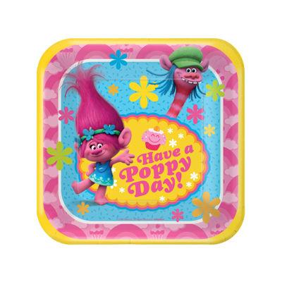 Trolls Square Dessert Plates