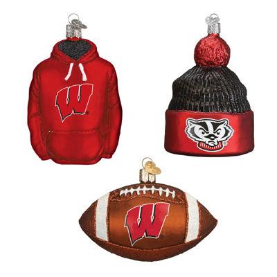 Wisconsin Football Christmas Ornaments (3)