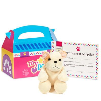 Pink Pet Carrier w/ Dog Plush