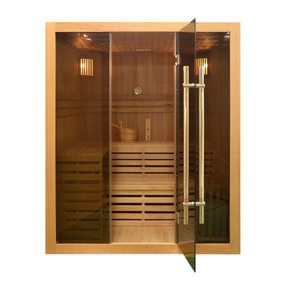 ALEKO 4 Person Wood Indoor Wet Dry Sauna with Electrical Heater
