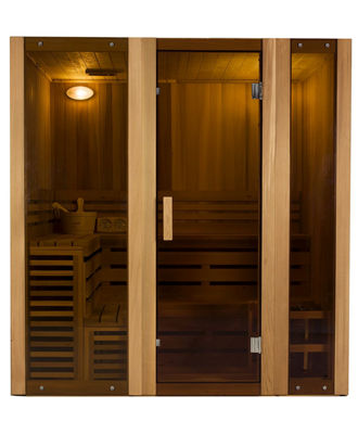 ALEKO 6 Person Wood Indoor Wet or Dry Steam Room Sauna with Heater