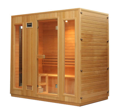 ALEKO 4-5 Person Wood Indoor Wet Dry Sauna with Electrical Heater