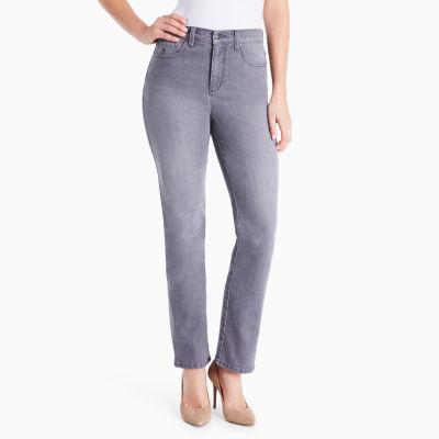 Gloria Vanderbilt Classic Fit Straight Leg Jeans-Petites