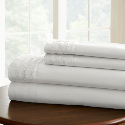 Pacific Coast Textiles 1000tc Cotton Blend Sheet Set With Pintuck Hem