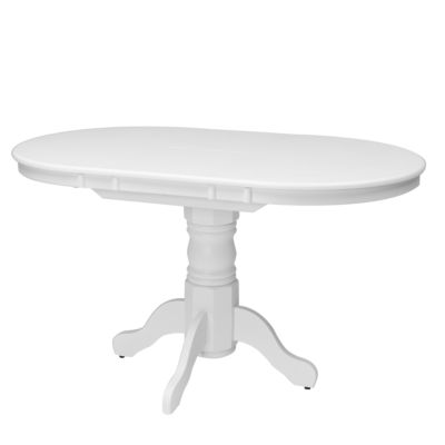 """CorLiving Dillon Extendable Oval Pedestal Dining Table with 12"""" Butterfly Leaf"""
