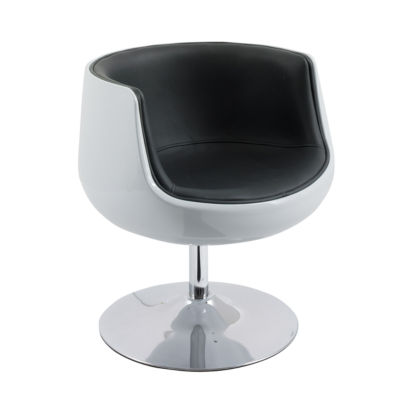 CorLiving Mod Modern Bonded Leather Barrel Chair