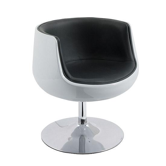 CorLiving Mod Modern Bonded Leather Barrel Chair