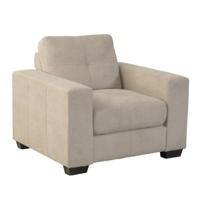 CorLiving Club Tufted Chenille Fabric Arm Chair