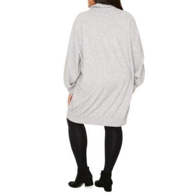 Tracee Ellis Ross for JCP Rejoice Long Sleeve Turtle Neck Sweater Tunic - Plus