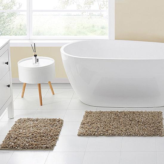 Vcny Glossy Paper Shag 2 Pc Bath Rug