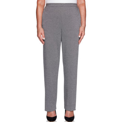 Alfred Dunner Grand Boulevard Womens High Waisted Straight Pull-On Pants