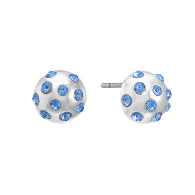 Liz Claiborne Blue 10mm Stud Earrings