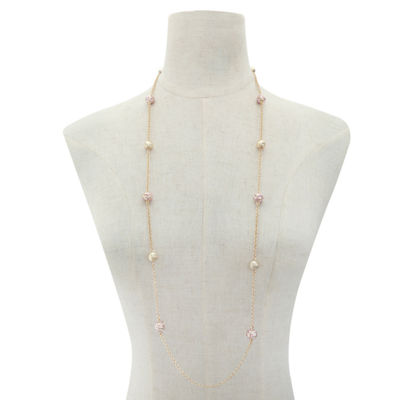 Liz Claiborne Womens Pink Strand Necklace