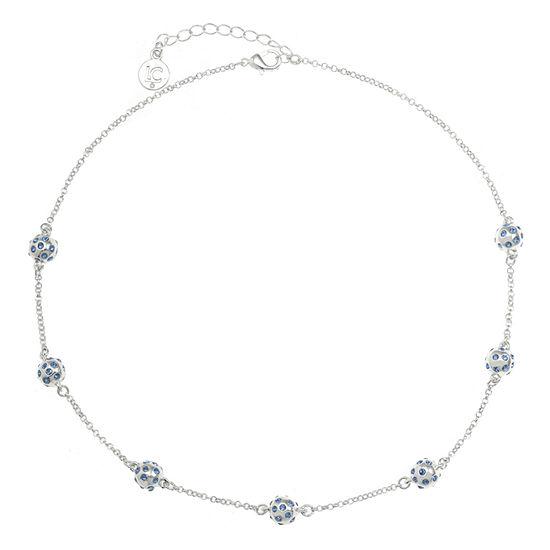 Liz Claiborne Blue 17 Inch Cable Collar Necklace