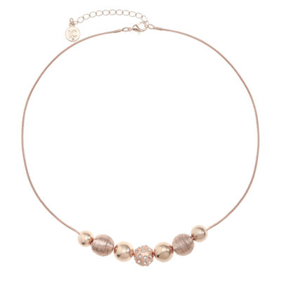 Liz Claiborne Womens Round Collar Necklace