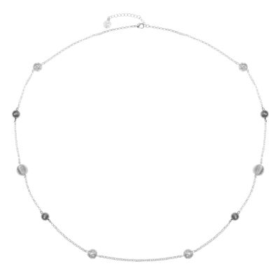 Liz Claiborne Womens Clear Round Strand Necklace