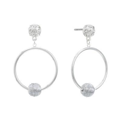 Liz Claiborne 54mm Round Hoop Earrings