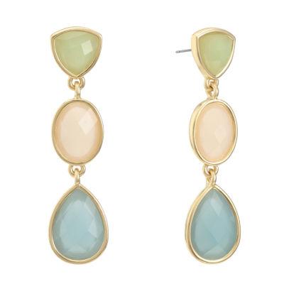 Liz Claiborne Diamond Accent Multi Color Drop Earrings