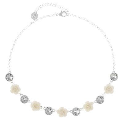 Liz Claiborne Womens Flower Collar Necklace