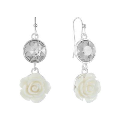 Liz Claiborne Flower Drop Earrings