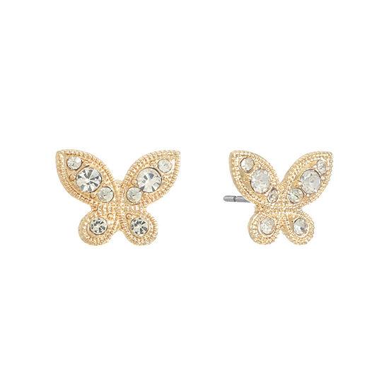 Monet Jewelry 13.6mm Butterfly Stud Earrings