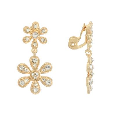 Monet Jewelry Flower Clip On Earrings