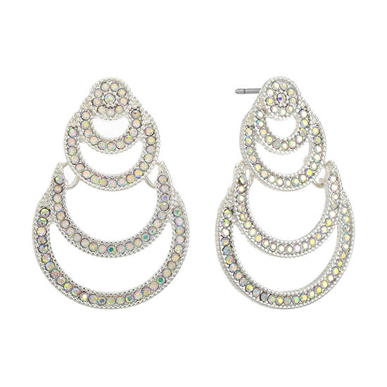 Liz Claiborne 1 Pair White Drop Earrings