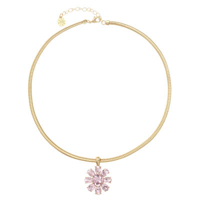 Monet Jewelry Womens Pink Pendant Necklace