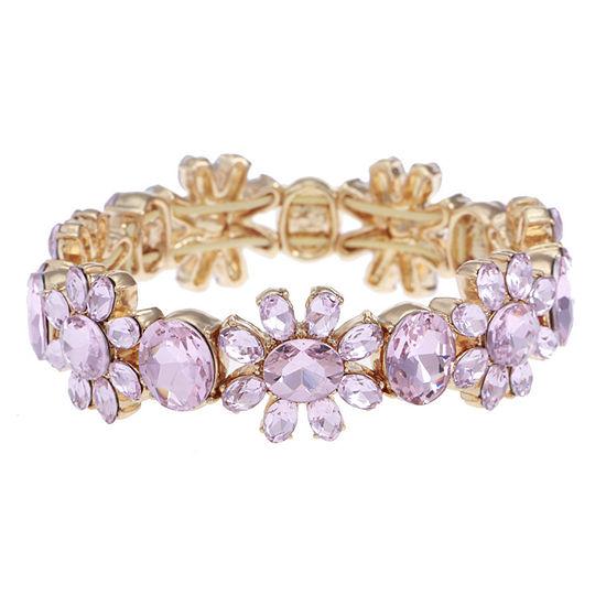 Monet Jewelry Pink Stretch Bracelet