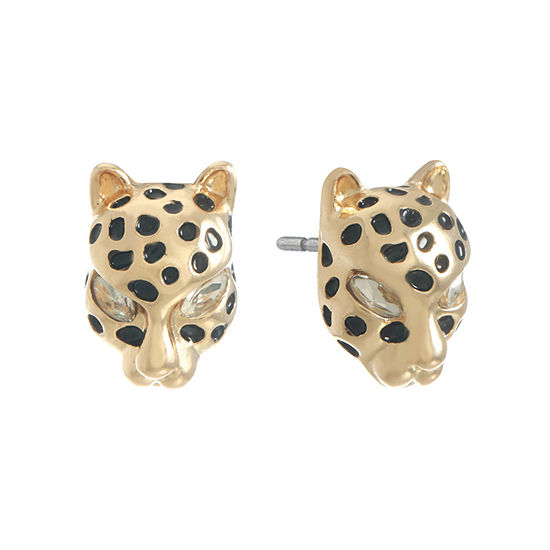 Monet Jewelry Panther 15mm Stud Earrings